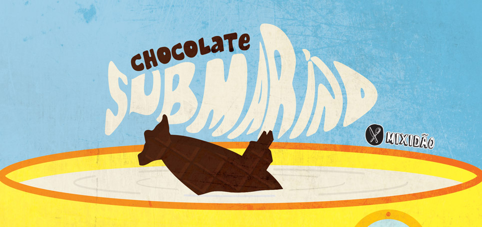 Receita ilustrada de submarino de chocolate, uma receita muito fácil e rápida de preparar e combina muito bem com esse inverno, além de ser muito divertida de fazer com as crianças. Ingredientes: leite, chocolate, açúcar e essência de baunilha.