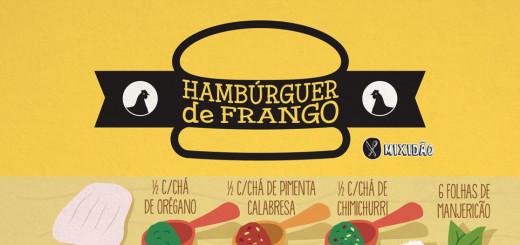Que tal um hambúrguer de frango que não leva ovo, farinha. Ingredientes: Sobrecoxa desossada, manjericão, orégano, pimenta calabresa, chimichurri e sal