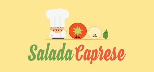 Animação com receita de Salada Caprese, uma receita muito saborosa, fácil e rápida de fazer. Ingredientes: Tomate, muçarela de búfala, manjericão, sal e azeite