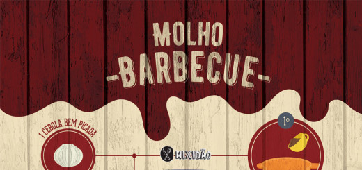 Receita ilustrada de Molho Barbecue, muito fácil e rápido de fazer, além de ficar muito parecido com o que compramos. Ingredientes: molho de tomate, açúcar mascavo, vinagre, cebola, molho shoyu, pimenta dedo de moça, páprica, sal e fumaça líquida.