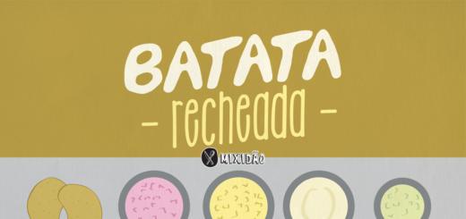 Receita ilustrada de Batata recheada, uma receita simples e rápida, com um recheio muito fácil de preparar. Ingredientes: batatas, maionese, peito de peru, queijo e alho poró.
