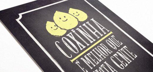 Gosta muito de coxinha? Então enfeite sua cozinha com esse poster super divertido.