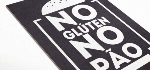 Pôster: No Glúten No Pão, inspirado na famosa frase: No Pain No Gain. Se você é um defensor do Glúten, vai gostar deste quadro.