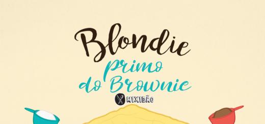 Receita ilustrada de Blondie de chocolate Branco. Uma bom muito fácil de preparar e é bem parecido com o Brownie, só que muito mais fácil de preparar, pois não precisa de batedeira. Ingredientes: farinha de trigo, manteiga, chocolate branco, açúcar, ovo e sal.